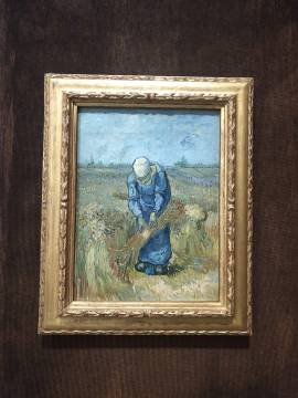 VINCENT VAN GOGH, Peasant Woman Binding Sheaves, 1889. Oil on canvas