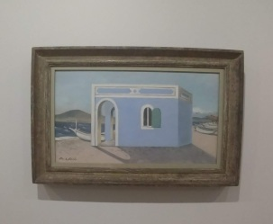 PAUL NASH, Blue House on the Shore, 1930-1. Oil on canvas
