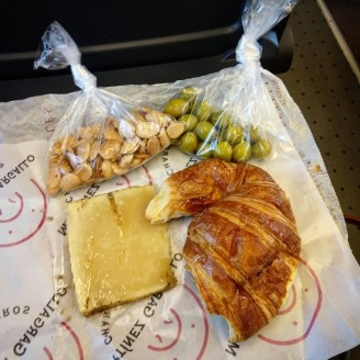 Market haul for my train to Madrid